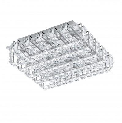 Eglo LONZASO 94313 Настенно-потолочные светильникиКвадратные<br>Настенно-потолочные светильники – это универсальные осветительные варианты, которые подходят для вертикального и горизонтального монтажа. В интернет-магазине «Светодом» Вы можете приобрести подобные модели по выгодной стоимости. В нашем каталоге представлены как бюджетные варианты, так и эксклюзивные изделия от производителей, которые уже давно заслужили доверие дизайнеров и простых покупателей.  Настенно-потолочный светильник Eglo 94313 станет прекрасным дополнением к основному освещению. Благодаря качественному исполнению и применению современных технологий при производстве эта модель будет радовать Вас своим привлекательным внешним видом долгое время. Приобрести настенно-потолочный светильник Eglo 94313 можно, находясь в любой точке России.<br><br>S освещ. до, м2: 11<br>Цветовая t, К: 4000 (белый)<br>Тип цоколя: LED<br>Количество ламп: 8<br>Ширина, мм: 290<br>MAX мощность ламп, Вт: 3,3<br>Размеры основания, мм: 0<br>Длина, мм: 290<br>Расстояние от стены, мм: 95<br>Оттенок (цвет): прозрачный<br>Цвет арматуры: серебристый<br>Общая мощность, Вт: 8X3,3W