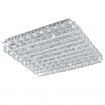 Eglo LONZASO 94315 Настенно-потолочные светильникиКвадратные<br>Настенно-потолочные светильники – это универсальные осветительные варианты, которые подходят для вертикального и горизонтального монтажа. В интернет-магазине «Светодом» Вы можете приобрести подобные модели по выгодной стоимости. В нашем каталоге представлены как бюджетные варианты, так и эксклюзивные изделия от производителей, которые уже давно заслужили доверие дизайнеров и простых покупателей.  Настенно-потолочный светильник Eglo 94315 станет прекрасным дополнением к основному освещению. Благодаря качественному исполнению и применению современных технологий при производстве эта модель будет радовать Вас своим привлекательным внешним видом долгое время.  Приобрести настенно-потолочный светильник Eglo 94315 можно, находясь в любой точке России.<br><br>S освещ. до, м2: 21<br>Цветовая t, К: 4000 (белый)<br>Тип цоколя: LED<br>Количество ламп: 16<br>Ширина, мм: 490<br>MAX мощность ламп, Вт: 3,3<br>Размеры основания, мм: 0<br>Длина, мм: 490<br>Расстояние от стены, мм: 95<br>Оттенок (цвет): прозрачный<br>Цвет арматуры: серебристый<br>Общая мощность, Вт: 16X3,3W