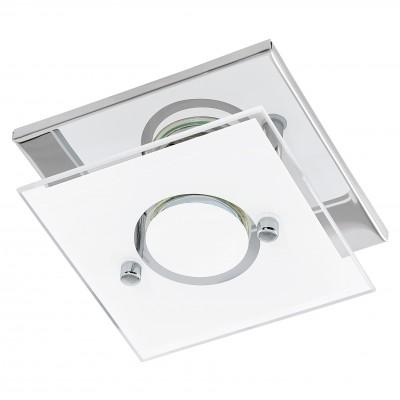 Eglo VARALLO 94372 Настенно-потолочные светильникиДекоративные<br>Настенно-потолочные светильники – это универсальные осветительные варианты, которые подходят для вертикального и горизонтального монтажа. В интернет-магазине «Светодом» Вы можете приобрести подобные модели по выгодной стоимости. В нашем каталоге представлены как бюджетные варианты, так и эксклюзивные изделия от производителей, которые уже давно заслужили доверие дизайнеров и простых покупателей.  Настенно-потолочный светильник Eglo 94372 станет прекрасным дополнением к основному освещению. Благодаря качественному исполнению и применению современных технологий при производстве эта модель будет радовать Вас своим привлекательным внешним видом долгое время. Приобрести настенно-потолочный светильник Eglo 94372 можно, находясь в любой точке России.<br><br>S освещ. до, м2: 1<br>Тип цоколя: GU10<br>Цвет арматуры: серебристый<br>Количество ламп: 1<br>Ширина, мм: 135<br>Размеры основания, мм: 0<br>Длина, мм: 135<br>Высота, мм: 85<br>Оттенок (цвет): белое покрытие<br>MAX мощность ламп, Вт: 3<br>Общая мощность, Вт: 1X3W