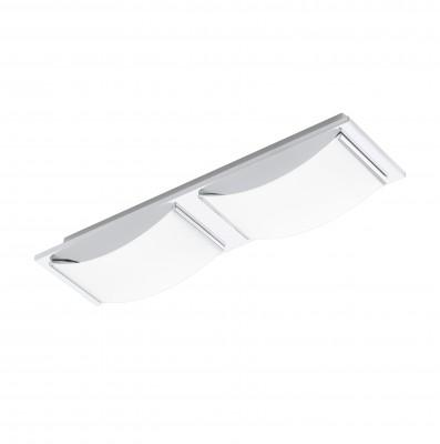 Eglo WASAO 94466 Настенно-потолочные светильникиПрямоугольные<br>Настенно-потолочные светильники – это универсальные осветительные варианты, которые подходят для вертикального и горизонтального монтажа. В интернет-магазине «Светодом» Вы можете приобрести подобные модели по выгодной стоимости. В нашем каталоге представлены как бюджетные варианты, так и эксклюзивные изделия от производителей, которые уже давно заслужили доверие дизайнеров и простых покупателей.  Настенно-потолочный светильник Eglo 94466 станет прекрасным дополнением к основному освещению. Благодаря качественному исполнению и применению современных технологий при производстве эта модель будет радовать Вас своим привлекательным внешним видом долгое время.  Приобрести настенно-потолочный светильник Eglo 94466 можно, находясь в любой точке России.<br><br>S освещ. до, м2: 4<br>Цветовая t, К: 3000 (теплый белый)<br>Тип цоколя: LED<br>Количество ламп: 2<br>Ширина, мм: 105<br>MAX мощность ламп, Вт: 5,4<br>Размеры основания, мм: 0<br>Длина, мм: 420<br>Высота, мм: 60<br>Оттенок (цвет): белый<br>Цвет арматуры: серебристый<br>Общая мощность, Вт: 2X5,4W