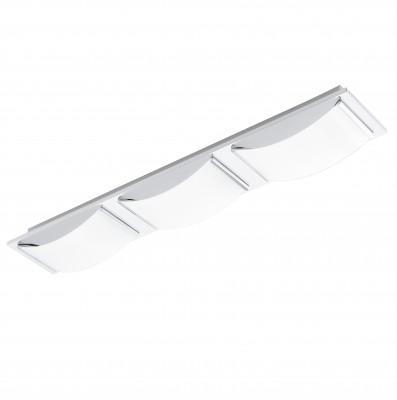 Eglo WASAO 94467 Настенно-потолочные светильникиДлинные<br>Настенно-потолочные светильники – это универсальные осветительные варианты, которые подходят для вертикального и горизонтального монтажа. В интернет-магазине «Светодом» Вы можете приобрести подобные модели по выгодной стоимости. В нашем каталоге представлены как бюджетные варианты, так и эксклюзивные изделия от производителей, которые уже давно заслужили доверие дизайнеров и простых покупателей.  Настенно-потолочный светильник Eglo 94467 станет прекрасным дополнением к основному освещению. Благодаря качественному исполнению и применению современных технологий при производстве эта модель будет радовать Вас своим привлекательным внешним видом долгое время.  Приобрести настенно-потолочный светильник Eglo 94467 можно, находясь в любой точке России.<br><br>S освещ. до, м2: 6<br>Цветовая t, К: 3000 (теплый белый)<br>Тип цоколя: LED<br>Количество ламп: 3<br>Ширина, мм: 105<br>MAX мощность ламп, Вт: 5,4<br>Размеры основания, мм: 0<br>Длина, мм: 630<br>Высота, мм: 60<br>Оттенок (цвет): белый<br>Цвет арматуры: серебристый<br>Общая мощность, Вт: 3X5,4W