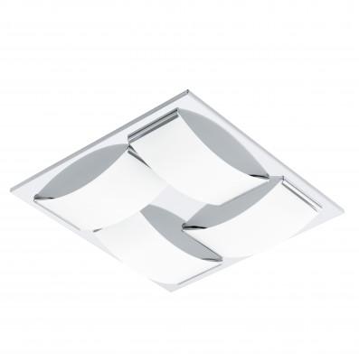 Eglo WASAO 94468 Настенно-потолочные светильникиКвадратные<br>Настенно-потолочные светильники – это универсальные осветительные варианты, которые подходят для вертикального и горизонтального монтажа. В интернет-магазине «Светодом» Вы можете приобрести подобные модели по выгодной стоимости. В нашем каталоге представлены как бюджетные варианты, так и эксклюзивные изделия от производителей, которые уже давно заслужили доверие дизайнеров и простых покупателей.  Настенно-потолочный светильник Eglo 94468 станет прекрасным дополнением к основному освещению. Благодаря качественному исполнению и применению современных технологий при производстве эта модель будет радовать Вас своим привлекательным внешним видом долгое время. Приобрести настенно-потолочный светильник Eglo 94468 можно, находясь в любой точке России.<br><br>S освещ. до, м2: 9<br>Цветовая t, К: 3000 (теплый белый)<br>Тип цоколя: LED<br>Количество ламп: 4<br>Ширина, мм: 320<br>MAX мощность ламп, Вт: 5,4<br>Размеры основания, мм: 0<br>Длина, мм: 320<br>Высота, мм: 60<br>Оттенок (цвет): белый<br>Цвет арматуры: серебристый<br>Общая мощность, Вт: 4X5,4W