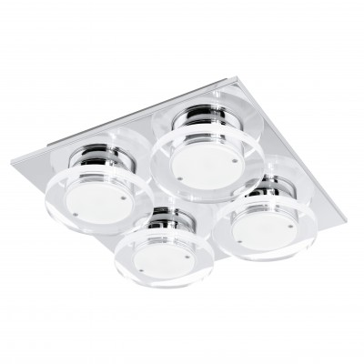 Eglo CISTERNO 94486 Настенно-потолочные светильникиКвадратные<br>Настенно-потолочные светильники – это универсальные осветительные варианты, которые подходят для вертикального и горизонтального монтажа. В интернет-магазине «Светодом» Вы можете приобрести подобные модели по выгодной стоимости. В нашем каталоге представлены как бюджетные варианты, так и эксклюзивные изделия от производителей, которые уже давно заслужили доверие дизайнеров и простых покупателей.  Настенно-потолочный светильник Eglo 94486 станет прекрасным дополнением к основному освещению. Благодаря качественному исполнению и применению современных технологий при производстве эта модель будет радовать Вас своим привлекательным внешним видом долгое время. Приобрести настенно-потолочный светильник Eglo 94486 можно, находясь в любой точке России.<br><br>S освещ. до, м2: 7<br>Цветовая t, К: 3000 (теплый белый)<br>Тип лампы: LED<br>Тип цоколя: LED<br>Количество ламп: 4<br>Ширина, мм: 270<br>MAX мощность ламп, Вт: 4,5<br>Размеры основания, мм: 0<br>Длина, мм: 270<br>Высота, мм: 70<br>Оттенок (цвет): прозрачный, матовый<br>Цвет арматуры: серебристый<br>Общая мощность, Вт: 4X4,5W