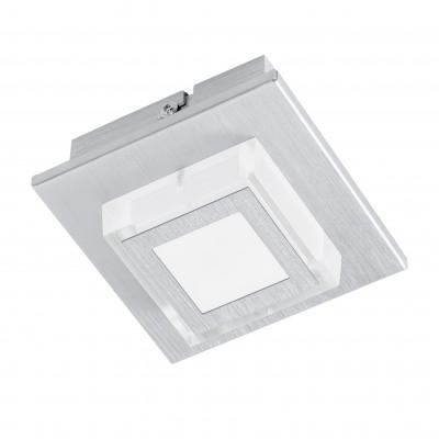 Eglo MASIANO 94505 Настенно-потолочные светильникиКвадратные<br>Настенно-потолочные светильники – это универсальные осветительные варианты, которые подходят для вертикального и горизонтального монтажа. В интернет-магазине «Светодом» Вы можете приобрести подобные модели по выгодной стоимости. В нашем каталоге представлены как бюджетные варианты, так и эксклюзивные изделия от производителей, которые уже давно заслужили доверие дизайнеров и простых покупателей.  Настенно-потолочный светильник Eglo 94505 станет прекрасным дополнением к основному освещению. Благодаря качественному исполнению и применению современных технологий при производстве эта модель будет радовать Вас своим привлекательным внешним видом долгое время. Приобрести настенно-потолочный светильник Eglo 94505 можно, находясь в любой точке России.<br><br>S освещ. до, м2: 1<br>Цветовая t, К: 3000 (теплый белый)<br>Тип цоколя: LED<br>Количество ламп: 1<br>Ширина, мм: 110<br>MAX мощность ламп, Вт: 3,3<br>Размеры основания, мм: 0<br>Длина, мм: 110<br>Высота, мм: 55<br>Оттенок (цвет): матовый<br>Цвет арматуры: серебристый<br>Общая мощность, Вт: 1X3,3W