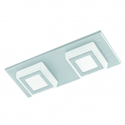 Eglo MASIANO 94506 Настенно-потолочные светильникиПрямоугольные<br>Настенно-потолочные светильники – это универсальные осветительные варианты, которые подходят для вертикального и горизонтального монтажа. В интернет-магазине «Светодом» Вы можете приобрести подобные модели по выгодной стоимости. В нашем каталоге представлены как бюджетные варианты, так и эксклюзивные изделия от производителей, которые уже давно заслужили доверие дизайнеров и простых покупателей.  Настенно-потолочный светильник Eglo 94506 станет прекрасным дополнением к основному освещению. Благодаря качественному исполнению и применению современных технологий при производстве эта модель будет радовать Вас своим привлекательным внешним видом долгое время. Приобрести настенно-потолочный светильник Eglo 94506 можно, находясь в любой точке России.<br><br>S освещ. до, м2: 3<br>Цветовая t, К: 3000 (теплый белый)<br>Тип цоколя: LED<br>Количество ламп: 2<br>Ширина, мм: 100<br>MAX мощность ламп, Вт: 3,3<br>Размеры основания, мм: 0<br>Длина, мм: 250<br>Высота, мм: 50<br>Оттенок (цвет): матовый<br>Цвет арматуры: серебристый<br>Общая мощность, Вт: 2X3,3W