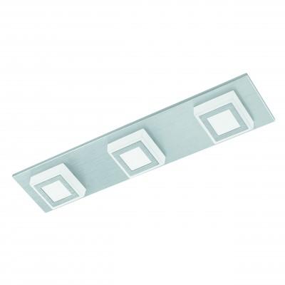 Eglo MASIANO 94507 Настенно-потолочные светильникиДлинные<br>Настенно-потолочные светильники – это универсальные осветительные варианты, которые подходят для вертикального и горизонтального монтажа. В интернет-магазине «Светодом» Вы можете приобрести подобные модели по выгодной стоимости. В нашем каталоге представлены как бюджетные варианты, так и эксклюзивные изделия от производителей, которые уже давно заслужили доверие дизайнеров и простых покупателей.  Настенно-потолочный светильник Eglo 94507 станет прекрасным дополнением к основному освещению. Благодаря качественному исполнению и применению современных технологий при производстве эта модель будет радовать Вас своим привлекательным внешним видом долгое время.  Приобрести настенно-потолочный светильник Eglo 94507 можно, находясь в любой точке России.<br><br>S освещ. до, м2: 4<br>Цветовая t, К: 3000 (теплый белый)<br>Тип цоколя: LED<br>Цвет арматуры: серебристый<br>Количество ламп: 3<br>Ширина, мм: 100<br>Размеры основания, мм: 0<br>Длина, мм: 450<br>Высота, мм: 50<br>Оттенок (цвет): матовый<br>MAX мощность ламп, Вт: 3,3<br>Общая мощность, Вт: 3X3,3W
