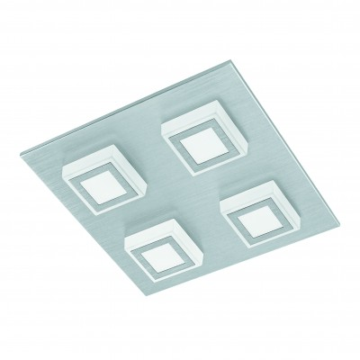 Eglo MASIANO 94508 Настенно-потолочные светильникиКвадратные<br>Настенно-потолочные светильники – это универсальные осветительные варианты, которые подходят для вертикального и горизонтального монтажа. В интернет-магазине «Светодом» Вы можете приобрести подобные модели по выгодной стоимости. В нашем каталоге представлены как бюджетные варианты, так и эксклюзивные изделия от производителей, которые уже давно заслужили доверие дизайнеров и простых покупателей.  Настенно-потолочный светильник Eglo 94508 станет прекрасным дополнением к основному освещению. Благодаря качественному исполнению и применению современных технологий при производстве эта модель будет радовать Вас своим привлекательным внешним видом долгое время. Приобрести настенно-потолочный светильник Eglo 94508 можно, находясь в любой точке России.<br><br>S освещ. до, м2: 5<br>Цветовая t, К: 3000 (теплый белый)<br>Тип цоколя: LED<br>Количество ламп: 4<br>Ширина, мм: 270<br>MAX мощность ламп, Вт: 3,3<br>Размеры основания, мм: 0<br>Длина, мм: 270<br>Высота, мм: 55<br>Оттенок (цвет): матовый<br>Цвет арматуры: серебристый<br>Общая мощность, Вт: 4X3,3W