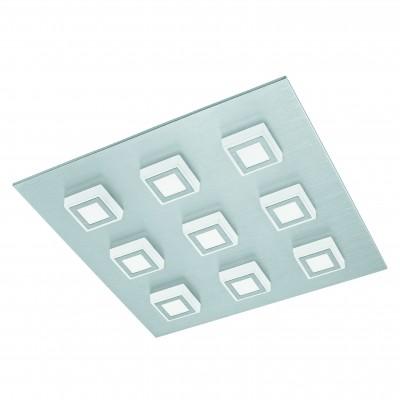 Eglo MASIANO 94509 Настенно-потолочные светильникиКвадратные<br>Настенно-потолочные светильники – это универсальные осветительные варианты, которые подходят для вертикального и горизонтального монтажа. В интернет-магазине «Светодом» Вы можете приобрести подобные модели по выгодной стоимости. В нашем каталоге представлены как бюджетные варианты, так и эксклюзивные изделия от производителей, которые уже давно заслужили доверие дизайнеров и простых покупателей.  Настенно-потолочный светильник Eglo 94509 станет прекрасным дополнением к основному освещению. Благодаря качественному исполнению и применению современных технологий при производстве эта модель будет радовать Вас своим привлекательным внешним видом долгое время. Приобрести настенно-потолочный светильник Eglo 94509 можно, находясь в любой точке России.<br><br>S освещ. до, м2: 12<br>Цветовая t, К: 3000 (теплый белый)<br>Тип цоколя: LED<br>Количество ламп: 9<br>Ширина, мм: 470<br>MAX мощность ламп, Вт: 3,3<br>Размеры основания, мм: 0<br>Длина, мм: 470<br>Высота, мм: 55<br>Оттенок (цвет): матовый<br>Цвет арматуры: серебристый<br>Общая мощность, Вт: 9X3,3W