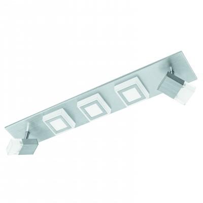 Eglo MASIANO 94511 Настенно-потолочные светильникиДвойные<br>Светильники-споты – это оригинальные изделия с современным дизайном. Они позволяют не ограничивать свою фантазию при выборе освещения для интерьера. Такие модели обеспечивают достаточно качественный свет. Благодаря компактным размерам Вы можете использовать несколько спотов для одного помещения.  Интернет-магазин «Светодом» предлагает необычный светильник-спот Eglo 94511 по привлекательной цене. Эта модель станет отличным дополнением к люстре, выполненной в том же стиле. Перед оформлением заказа изучите характеристики изделия.  Купить светильник-спот Eglo 94511 в нашем онлайн-магазине Вы можете либо с помощью формы на сайте, либо по указанным выше телефонам. Обратите внимание, что у нас склады не только в Москве и Екатеринбурге, но и других городах России.<br><br>S освещ. до, м2: 12<br>Цветовая t, К: 3000 (теплый белый)<br>Тип цоколя: LED<br>Цвет арматуры: серебристый<br>Ширина, мм: 100<br>Размеры основания, мм: 0<br>Длина, мм: 580<br>Оттенок (цвет): матовый<br>Общая мощность, Вт: 3X3,3W