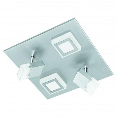 Eglo MASIANO 94512 Настенно-потолочные светильникиКвадратные<br>Настенно-потолочные светильники – это универсальные осветительные варианты, которые подходят для вертикального и горизонтального монтажа. В интернет-магазине «Светодом» Вы можете приобрести подобные модели по выгодной стоимости. В нашем каталоге представлены как бюджетные варианты, так и эксклюзивные изделия от производителей, которые уже давно заслужили доверие дизайнеров и простых покупателей.  Настенно-потолочный светильник Eglo 94512 станет прекрасным дополнением к основному освещению. Благодаря качественному исполнению и применению современных технологий при производстве эта модель будет радовать Вас своим привлекательным внешним видом долгое время. Приобрести настенно-потолочный светильник Eglo 94512 можно, находясь в любой точке России.<br><br>S освещ. до, м2: 7<br>Цветовая t, К: 3000 (теплый белый)<br>Тип цоколя: LED LED<br>Количество ламп: 2+2<br>Ширина, мм: 270<br>MAX мощность ламп, Вт: 3,3+5,4<br>Размеры основания, мм: 0<br>Длина, мм: 270<br>Оттенок (цвет): матовый<br>Цвет арматуры: серебристый<br>Общая мощность, Вт: 2X3,3W