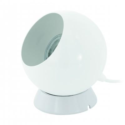 Eglo PETTO 1 94513 Настольная лампаХай тек<br>Настольная лампа – это не просто источник дополнительного освещения, но и оригинальный элемент декора. Его можно установить в спальне, гостиной, кабинете и других комнатах. Интернет-магазин «Светодом» предлагает настольные лампы разных стилей по доступным ценам. Благодаря большому ассортименту Вы обязательно найдете в нашем каталоге именно ту модель, которую искали.   Настольная лампа Eglo 94513 – прекрасный вариант для завершения интерьера. Ее можно включить одновременно с люстрой для более яркого освещения или без нее для создания уютной атмосферы, настраивающей на отдых.   Купить настольную лампу Eglo 94513 Вы можете с помощью виртуальной «Корзины» или по контактным номерам, указанным на сайте.<br><br>Тип лампы: галогенная/LED<br>Тип цоколя: GU10<br>Диаметр, мм мм: 105<br>Размеры основания, мм: 90<br>Высота, мм: 135<br>Цвет арматуры: белый<br>Общая мощность, Вт: 1X3,3W