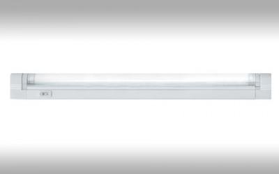 Светильник люминесцентный Navigator 94 518С лампой T5<br>Люминесцентные компактные светильники NEL-B2 предназначены для дополнительного освещения в жилых, офисных и коммерческих помещениях. Удобны для подсветки встроенных шкафов и гардеробных комнат, кухонных гарнитуров и зеркал в прихожих, а также витрин и прилавков в магазинах.<br>  Корпус светильника NEL-B2 изготовлен из поликарбоната, выполнен в белом цвете. Рассеиватель изготовлен из прозрачного рифленого акрила (полиметилметакрилат). Светильник предназначен для работы от сетевого напряжения 220 – 240 В с частотой 50/60 Гц.<br>  Материалы, из которых изготовлен светильник, не поддерживают горение.Диапазон рабочих температур окружающей среды светильника от 0°С до 45°С.<br>  Светильники серии NEL-B2 с закрытой лампой (с рассеивателем), встроенным ЭПРА и кнопкой включения/выключения на корпусе, комплектуются:• лампой люминесцентной Т5 (индекс цветопередачи Ra gt; 82) • сетевым шнуром с вилкой • соединительным кабелем, с помощью которого можно подключить в единую цепь до 10 светильников • крепежом для присоединения светильника к вертикальной или горизонтальной поверхности.<br><br>S освещ. до, м2: 7 - 10<br>Цветовая t, К: 4200<br>Тип лампы: люмин-я T5<br>Тип цоколя: G5<br>Количество ламп: 1<br>Ширина, мм: 22<br>MAX мощность ламп, Вт: 28<br>Длина, мм: 1203/1205<br>Высота, мм: 43<br>Цвет арматуры: белый