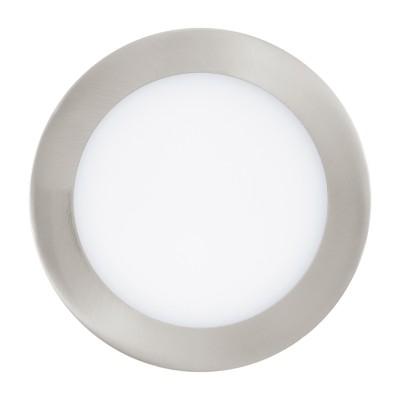 Eglo FUEVA 1 94521 Встраиваемые и накладные светильникиКруглые LED<br>Встраиваемые светильники – популярное осветительное оборудование, которое можно использовать в качестве основного источника или в дополнение к люстре. Они позволяют создать нужную атмосферу атмосферу и привнести в интерьер уют и комфорт.   Интернет-магазин «Светодом» предлагает стильный встраиваемый светильник Eglo 94521. Данная модель достаточно универсальна, поэтому подойдет практически под любой интерьер. Перед покупкой не забудьте ознакомиться с техническими параметрами, чтобы узнать тип цоколя, площадь освещения и другие важные характеристики.   Приобрести встраиваемый светильник Eglo 94521 в нашем онлайн-магазине Вы можете либо с помощью «Корзины», либо по контактным номерам. Мы развозим заказы по Москве, Екатеринбургу и остальным российским городам.<br><br>Цветовая t, К: 3000 (теплый белый)<br>Тип лампы: LED<br>Тип цоколя: LED<br>Диаметр, мм мм: 120<br>Размеры основания, мм: 0<br>Диаметр врезного отверстия, мм: 25<br>Цвет арматуры: серебристый<br>Общая мощность, Вт: 5,5W