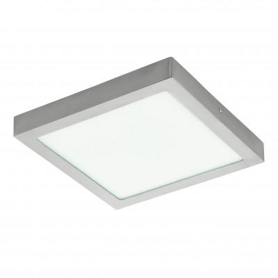Eglo FUEVA 1 94528 Настенно-потолочные светильникиКвадратные<br>Настенно-потолочные светильники – это универсальные осветительные варианты, которые подходят для вертикального и горизонтального монтажа. В интернет-магазине «Светодом» Вы можете приобрести подобные модели по выгодной стоимости. В нашем каталоге представлены как бюджетные варианты, так и эксклюзивные изделия от производителей, которые уже давно заслужили доверие дизайнеров и простых покупателей.  Настенно-потолочный светильник Eglo 94528 станет прекрасным дополнением к основному освещению. Благодаря качественному исполнению и применению современных технологий при производстве эта модель будет радовать Вас своим привлекательным внешним видом долгое время. Приобрести настенно-потолочный светильник Eglo 94528 можно, находясь в любой точке России.<br><br>S освещ. до, м2: 9<br>Цветовая t, К: 3000 (теплый белый)<br>Тип лампы: LED<br>Тип цоколя: LED<br>Ширина, мм: 300<br>Размеры основания, мм: 0<br>Длина, мм: 300<br>Высота, мм: 40<br>Цвет арматуры: серебристый<br>Общая мощность, Вт: 22W