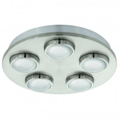 Eglo LOMBES 94546 Настенно-потолочный светильникКруглые<br>Настенно-потолочные светильники – это универсальные осветительные варианты, которые подходят для вертикального и горизонтального монтажа. В интернет-магазине «Светодом» Вы можете приобрести подобные модели по выгодной стоимости. В нашем каталоге представлены как бюджетные варианты, так и эксклюзивные изделия от производителей, которые уже давно заслужили доверие дизайнеров и простых покупателей.  Настенно-потолочный светильник Eglo 94546 станет прекрасным дополнением к основному освещению. Благодаря качественному исполнению и применению современных технологий при производстве эта модель будет радовать Вас своим привлекательным внешним видом долгое время. Приобрести настенно-потолочный светильник Eglo 94546 можно, находясь в любой точке России.<br><br>S освещ. до, м2: 8<br>Цветовая t, К: 3000 (теплый белый)<br>Тип цоколя: LED<br>Цвет арматуры: серый<br>Количество ламп: 5<br>Диаметр, мм мм: 350<br>Размеры основания, мм: 0<br>Расстояние от стены, мм: 80<br>Оттенок (цвет): прозрачный<br>MAX мощность ламп, Вт: 4,2<br>Общая мощность, Вт: 5X4,2W