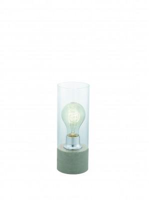 Eglo TORVISCO 1 94549 Настольная лампаСовременные<br>Настольная лампа – это не просто источник дополнительного освещения, но и оригинальный элемент декора. Его можно установить в спальне, гостиной, кабинете и других комнатах. Интернет-магазин «Светодом» предлагает настольные лампы разных стилей по доступным ценам. Благодаря большому ассортименту Вы обязательно найдете в нашем каталоге именно ту модель, которую искали.   Настольная лампа Eglo 94549 – прекрасный вариант для завершения интерьера. Ее можно включить одновременно с люстрой для более яркого освещения или без нее для создания уютной атмосферы, настраивающей на отдых.   Купить настольную лампу Eglo 94549 Вы можете с помощью виртуальной «Корзины» или по контактным номерам, указанным на сайте.<br><br>Тип цоколя: E27<br>Диаметр, мм мм: 100<br>Размеры основания, мм: 0<br>Высота, мм: 270<br>Оттенок (цвет): прозрачный<br>Цвет арматуры: серый<br>Общая мощность, Вт: 1X60W