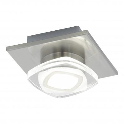 Eglo MARCHESI 94569 Настенно-потолочные светильникиДекоративные<br>Настенно-потолочные светильники – это универсальные осветительные варианты, которые подходят для вертикального и горизонтального монтажа. В интернет-магазине «Светодом» Вы можете приобрести подобные модели по выгодной стоимости. В нашем каталоге представлены как бюджетные варианты, так и эксклюзивные изделия от производителей, которые уже давно заслужили доверие дизайнеров и простых покупателей.  Настенно-потолочный светильник Eglo 94569 станет прекрасным дополнением к основному освещению. Благодаря качественному исполнению и применению современных технологий при производстве эта модель будет радовать Вас своим привлекательным внешним видом долгое время. Приобрести настенно-потолочный светильник Eglo 94569 можно, находясь в любой точке России.<br><br>S освещ. до, м2: 2<br>Цветовая t, К: 3000 (теплый белый)<br>Тип цоколя: LED<br>Количество ламп: 1<br>Ширина, мм: 130<br>MAX мощность ламп, Вт: 4,5<br>Размеры основания, мм: 0<br>Длина, мм: 130<br>Высота, мм: 70<br>Оттенок (цвет): прозрачный, матовый<br>Цвет арматуры: серый<br>Общая мощность, Вт: 1X4,5W