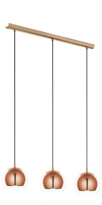 Eglo ROCAMAR 94591 Светильник подвеснойТройные<br>Подвесной светильник – это универсальный вариант, подходящий для любой комнаты. Сегодня производители предлагают огромный выбор таких моделей по самым разным ценам. В каталоге интернет-магазина «Светодом» мы собрали большое количество интересных и оригинальных светильников по выгодной стоимости. Вы можете приобрести их в Москве, Екатеринбурге и любом другом городе России.  Подвесной светильник Eglo 94591 сразу же привлечет внимание Ваших гостей благодаря стильному исполнению. Благородный дизайн позволит использовать эту модель практически в любом интерьере. Она обеспечит достаточно света и при этом легко монтируется. Чтобы купить подвесной светильник Eglo 94591, воспользуйтесь формой на нашем сайте или позвоните менеджерам интернет-магазина.<br><br>S освещ. до, м2: 9<br>Тип цоколя: E27<br>Количество ламп: 3<br>Ширина, мм: 190<br>MAX мощность ламп, Вт: 60<br>Размеры основания, мм: 0<br>Длина, мм: 780<br>Высота, мм: 1100<br>Оттенок (цвет): прозрачный<br>Цвет арматуры: желтый<br>Общая мощность, Вт: 3X60W