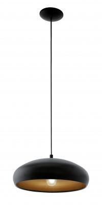 Eglo MOGANO 1 94605 Подвесные светильникиОдиночные<br>Подвесной светильник – это универсальный вариант, подходящий для любой комнаты. Сегодня производители предлагают огромный выбор таких моделей по самым разным ценам. В каталоге интернет-магазина «Светодом» мы собрали большое количество интересных и оригинальных светильников по выгодной стоимости. Вы можете приобрести их в Москве, Екатеринбурге и любом другом городе России.  Подвесной светильник Eglo 94605 сразу же привлечет внимание Ваших гостей благодаря стильному исполнению. Благородный дизайн позволит использовать эту модель практически в любом интерьере. Она обеспечит достаточно света и при этом легко монтируется. Чтобы купить подвесной светильник Eglo 94605, воспользуйтесь формой на нашем сайте или позвоните менеджерам интернет-магазина.<br><br>S освещ. до, м2: 3<br>Тип лампы: Накаливания / энергосбережения / светодиодная<br>Тип цоколя: E27<br>Количество ламп: 1<br>MAX мощность ламп, Вт: 60<br>Диаметр, мм мм: 400<br>Размеры основания, мм: 0<br>Высота, мм: 1100<br>Цвет арматуры: черный, медный<br>Общая мощность, Вт: 1X60W