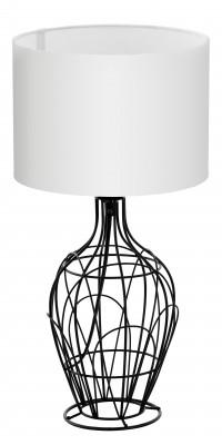 Eglo FAGONA 94607 Настольная лампаСовременные<br>Настольная лампа – это не просто источник дополнительного освещения, но и оригинальный элемент декора. Его можно установить в спальне, гостиной, кабинете и других комнатах. Интернет-магазин «Светодом» предлагает настольные лампы разных стилей по доступным ценам. Благодаря большому ассортименту Вы обязательно найдете в нашем каталоге именно ту модель, которую искали.   Настольная лампа Eglo 94607 – прекрасный вариант для завершения интерьера. Ее можно включить одновременно с люстрой для более яркого освещения или без нее для создания уютной атмосферы, настраивающей на отдых.   Купить настольную лампу Eglo 94607 Вы можете с помощью виртуальной «Корзины» или по контактным номерам, указанным на сайте.<br><br>Тип цоколя: E27<br>Диаметр, мм мм: 235<br>Размеры основания, мм: 0<br>Высота, мм: 445<br>Оттенок (цвет): белый<br>Цвет арматуры: черный<br>Общая мощность, Вт: 1X60W