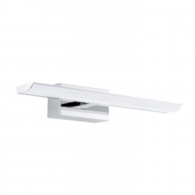Eglo TABIANO 94612 светильник для ванной комнаты и зеркалДля зеркала<br><br><br>Цветовая t, К: 4000 (белый)<br>Тип цоколя: LED<br>Цвет арматуры: серебристый<br>Размеры основания, мм: 0<br>Длина, мм: 405<br>Расстояние от стены, мм: 130<br>Высота, мм: 70<br>Оттенок (цвет): белый<br>Общая мощность, Вт: 2X3,2W