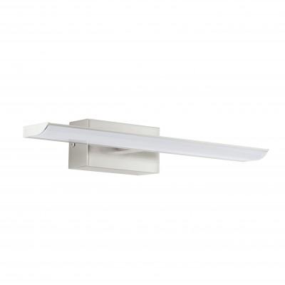 Eglo TABIANO 94614 светильник для ванной комнаты и зеркаласветильники для зеркала<br><br><br>Цветовая t, К: 4000 (белый)<br>Тип цоколя: LED<br>Цвет арматуры: серый<br>Размеры основания, мм: 0<br>Длина, мм: 405<br>Расстояние от стены, мм: 130<br>Высота, мм: 70<br>Оттенок (цвет): белый<br>Общая мощность, Вт: 2X3,2W
