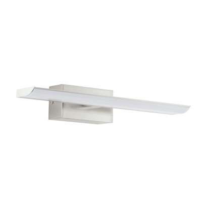 Eglo TABIANO 94614 светильник для ванной комнаты и зеркалДля картин/зеркал<br><br><br>Цветовая t, К: 4000 (белый)<br>Тип цоколя: LED<br>Размеры основания, мм: 0<br>Длина, мм: 405<br>Расстояние от стены, мм: 130<br>Высота, мм: 70<br>Оттенок (цвет): белый<br>Цвет арматуры: серый<br>Общая мощность, Вт: 2X3,2W