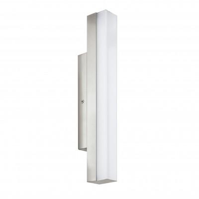 Eglo TORRETTA 94616 Светильники для ванной комнаты и зеркалсветильники для зеркала<br><br><br>Цветовая t, К: 4000 (белый)<br>Тип цоколя: LED<br>Цвет арматуры: серебристый<br>Размеры основания, мм: 0<br>Длина, мм: 350<br>Расстояние от стены, мм: 75<br>Высота, мм: 40<br>Оттенок (цвет): белый<br>Общая мощность, Вт: 8W