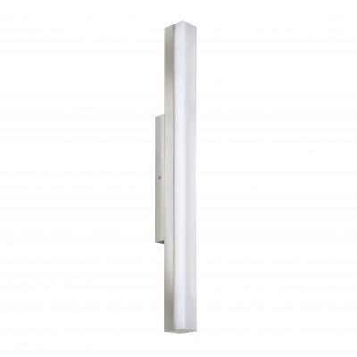 Eglo TORRETTA 94617 Светильники для ванной комнаты и зеркалДля картин/зеркал<br><br><br>Цветовая t, К: 4000 (белый)<br>Тип цоколя: LED<br>Ширина, мм: 40<br>Расстояние от стены, мм: 75<br>Высота, мм: 600<br>Оттенок (цвет): белый<br>Цвет арматуры: серебристый<br>Общая мощность, Вт: 16W