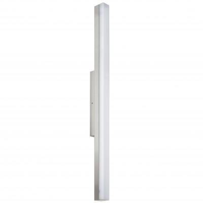 Eglo TORRETTA 94618 Светильники для ванной комнаты и зеркалДля картин/зеркал<br><br><br>Цветовая t, К: 4000 (белый)<br>Тип цоколя: LED<br>Размеры основания, мм: 0<br>Длина, мм: 900<br>Расстояние от стены, мм: 75<br>Высота, мм: 40<br>Оттенок (цвет): белый<br>Цвет арматуры: серебристый<br>Общая мощность, Вт: 24W