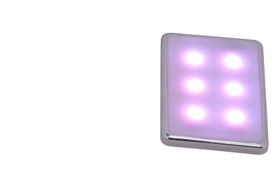 Светильник Brilliant G94624/72 KIARAКвадратные LED<br>Встраиваемые светильники – популярное осветительное оборудование, которое можно использовать в качестве основного источника или в дополнение к люстре. Они позволяют создать нужную атмосферу атмосферу и привнести в интерьер уют и комфорт.   Интернет-магазин «Светодом» предлагает стильный встраиваемый светильник Brilliant G94624/72. Данная модель достаточно универсальна, поэтому подойдет практически под любой интерьер. Перед покупкой не забудьте ознакомиться с техническими параметрами, чтобы узнать тип цоколя, площадь освещения и другие важные характеристики.   Приобрести встраиваемый светильник Brilliant G94624/72 в нашем онлайн-магазине Вы можете либо с помощью «Корзины», либо по контактным номерам. Мы развозим заказы по Москве, Екатеринбургу и остальным российским городам.<br><br>S освещ. до, м2: 1<br>Тип лампы: LED - светодиодная<br>Тип цоколя: LED<br>Количество ламп: 24<br>Ширина, мм: 83<br>MAX мощность ламп, Вт: 0,1<br>Диаметр, мм мм: 56<br>Высота, мм: 6<br>Цвет арматуры: серебристый