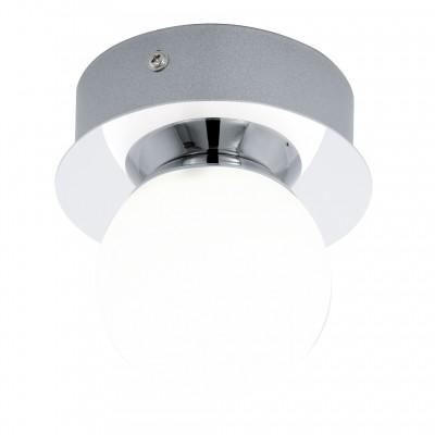 Eglo MOSIANO 94626 Настенно-потолочный светильникКруглые<br>Настенно-потолочные светильники – это универсальные осветительные варианты, которые подходят для вертикального и горизонтального монтажа. В интернет-магазине «Светодом» Вы можете приобрести подобные модели по выгодной стоимости. В нашем каталоге представлены как бюджетные варианты, так и эксклюзивные изделия от производителей, которые уже давно заслужили доверие дизайнеров и простых покупателей.  Настенно-потолочный светильник Eglo 94626 станет прекрасным дополнением к основному освещению. Благодаря качественному исполнению и применению современных технологий при производстве эта модель будет радовать Вас своим привлекательным внешним видом долгое время. Приобрести настенно-потолочный светильник Eglo 94626 можно, находясь в любой точке России.<br><br>S освещ. до, м2: 1<br>Цветовая t, К: 3000 (теплый белый)<br>Тип цоколя: LED<br>Количество ламп: 1<br>MAX мощность ламп, Вт: 3,3<br>Диаметр, мм мм: 110<br>Размеры основания, мм: 0<br>Высота, мм: 115<br>Оттенок (цвет): белый<br>Цвет арматуры: серебристый<br>Общая мощность, Вт: 1X3,3W