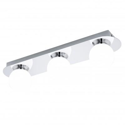 Eglo MOSIANO 94628 Настенно-потолочные светильникиДлинные<br>Настенно-потолочные светильники – это универсальные осветительные варианты, которые подходят для вертикального и горизонтального монтажа. В интернет-магазине «Светодом» Вы можете приобрести подобные модели по выгодной стоимости. В нашем каталоге представлены как бюджетные варианты, так и эксклюзивные изделия от производителей, которые уже давно заслужили доверие дизайнеров и простых покупателей.  Настенно-потолочный светильник Eglo 94628 станет прекрасным дополнением к основному освещению. Благодаря качественному исполнению и применению современных технологий при производстве эта модель будет радовать Вас своим привлекательным внешним видом долгое время. Приобрести настенно-потолочный светильник Eglo 94628 можно, находясь в любой точке России.<br><br>S освещ. до, м2: 4<br>Цветовая t, К: 3000 (теплый белый)<br>Тип цоколя: LED<br>Количество ламп: 3<br>Ширина, мм: 100<br>MAX мощность ламп, Вт: 3,3<br>Размеры основания, мм: 0<br>Длина, мм: 450<br>Высота, мм: 110<br>Оттенок (цвет): белый<br>Цвет арматуры: серебристый<br>Общая мощность, Вт: 3X3,3W