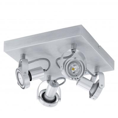 Eglo NOVORIO 94645 Спотыспоты 4 лампы<br>Светильники-споты – это оригинальные изделия с современным дизайном. Они позволяют не ограничивать свою фантазию при выборе освещения для интерьера. Такие модели обеспечивают достаточно качественный свет. Благодаря компактным размерам Вы можете использовать несколько спотов для одного помещения.  Интернет-магазин «Светодом» предлагает необычный светильник-спот Eglo 94645 по привлекательной цене. Эта модель станет отличным дополнением к люстре, выполненной в том же стиле. Перед оформлением заказа изучите характеристики изделия.  Купить светильник-спот Eglo 94645 в нашем онлайн-магазине Вы можете либо с помощью формы на сайте, либо по указанным выше телефонам. Обратите внимание, что у нас склады не только в Москве и Екатеринбурге, но и других городах России.<br><br>S освещ. до, м2: 8<br>Тип цоколя: GU10<br>Цвет арматуры: серебристый<br>Ширина, мм: 270<br>Размеры основания, мм: 0<br>Длина, мм: 270<br>Общая мощность, Вт: 4X5W