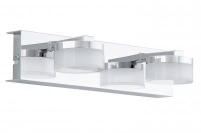 Eglo ROMENDO 94652 светильник для ванной комнаты и зеркалХай-тек<br><br><br>Цветовая t, К: 3000 (теплый белый)<br>Тип цоколя: LED<br>Размеры основания, мм: 0<br>Длина, мм: 300<br>Расстояние от стены, мм: 125<br>Высота, мм: 70<br>Оттенок (цвет): прозрачный, матовый<br>Цвет арматуры: серебристый<br>Общая мощность, Вт: 2X4,5W