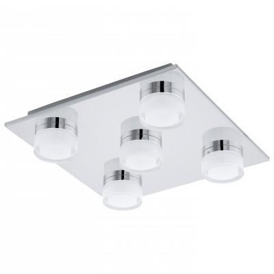 Eglo ROMENDO 94654 Светильники для ванной комнаты и зеркалПотолочные<br>Компания «Светодом» предлагает широкий ассортимент люстр от известных производителей. Представленные в нашем каталоге товары выполнены из современных материалов и обладают отличным качеством. Благодаря широкому ассортименту Вы сможете найти у нас люстру под любой интерьер. Мы предлагаем как классические варианты, так и современные модели, отличающиеся лаконичностью и простотой форм.  Стильная люстра Eglo 94654 станет украшением любого дома. Эта модель от известного производителя не оставит равнодушным ценителей красивых и оригинальных предметов интерьера. Люстра Eglo 94654 обеспечит равномерное распределение света по всей комнате. При выборе обратите внимание на характеристики, позволяющие приобрести наиболее подходящую модель. Купить понравившуюся люстру по доступной цене Вы можете в интернет-магазине «Светодом».<br><br>Установка на натяжной потолок: Да<br>S освещ. до, м2: 9<br>Крепление: Планка<br>Цветовая t, К: 3000 (теплый белый)<br>Тип лампы: LED<br>Тип цоколя: LED<br>Количество ламп: 5<br>Ширина, мм: 320<br>MAX мощность ламп, Вт: 4,5<br>Размеры основания, мм: 0<br>Длина, мм: 320<br>Высота, мм: 70<br>Оттенок (цвет): прозрачный, матовый белый<br>Цвет арматуры: серебристый<br>Общая мощность, Вт: 5X4,5W