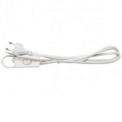 Провод с вилкой и выключателем Navigator 94 667 NPS-FS-170-WH 1,7мПровод с вилкой<br><br>