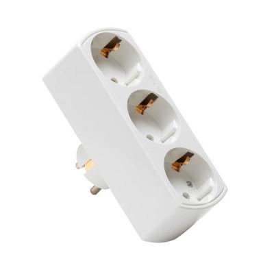 Разветвитель Navigator 94 672 NAD-L-3E-WH 3 гн. (в ряд) с/зПереходники<br>Разветвитель электрический Navigator 94 672 NAD-L-3E-C-WH   применяется в случаях, когда требуется подключить в одиночную розетку 1, 2 или 3 электроприбора.<br><br>Тип товара: Разветвитель