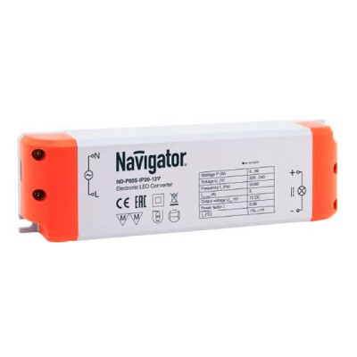 Драйвер Navigator 94 679 ND-P60S-IP20-12Блоки питания<br><br><br>Ширина, мм: 52<br>Длина, мм: 180<br>Высота, мм: 30<br>MAX мощность ламп, Вт: 60