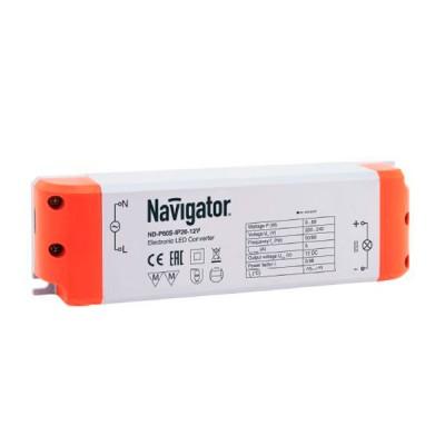 Драйвер для ленты 75Вт Navigator 94 680 ND-P75S-IP20-12VБлоки питания<br><br><br>MAX мощность ламп, Вт: 75