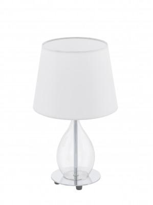 Eglo RINEIRO 94682 Настольная лампаХай тек<br>Настольная лампа – это не просто источник дополнительного освещения, но и оригинальный элемент декора. Его можно установить в спальне, гостиной, кабинете и других комнатах. Интернет-магазин «Светодом» предлагает настольные лампы разных стилей по доступным ценам. Благодаря большому ассортименту Вы обязательно найдете в нашем каталоге именно ту модель, которую искали.   Настольная лампа Eglo 94682 – прекрасный вариант для завершения интерьера. Ее можно включить одновременно с люстрой для более яркого освещения или без нее для создания уютной атмосферы, настраивающей на отдых.   Купить настольную лампу Eglo 94682 Вы можете с помощью виртуальной «Корзины» или по контактным номерам, указанным на сайте.<br><br>Тип цоколя: E14<br>Цвет арматуры: серебристый<br>Диаметр, мм мм: 200<br>Размеры основания, мм: 0<br>Высота, мм: 340<br>Оттенок (цвет): белый<br>Общая мощность, Вт: 1X40W
