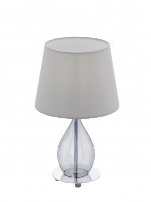 Eglo RINEIRO 94683 Настольная лампаХай тек<br>Настольная лампа – это не просто источник дополнительного освещения, но и оригинальный элемент декора. Его можно установить в спальне, гостиной, кабинете и других комнатах. Интернет-магазин «Светодом» предлагает настольные лампы разных стилей по доступным ценам. Благодаря большому ассортименту Вы обязательно найдете в нашем каталоге именно ту модель, которую искали.   Настольная лампа Eglo 94683 – прекрасный вариант для завершения интерьера. Ее можно включить одновременно с люстрой для более яркого освещения или без нее для создания уютной атмосферы, настраивающей на отдых.   Купить настольную лампу Eglo 94683 Вы можете с помощью виртуальной «Корзины» или по контактным номерам, указанным на сайте.<br><br>Тип цоколя: E14<br>Диаметр, мм мм: 200<br>Размеры основания, мм: 0<br>Высота, мм: 340<br>Оттенок (цвет): серый<br>Цвет арматуры: серебристый<br>Общая мощность, Вт: 1X40W