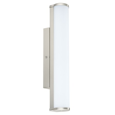 Eglo CALNOVA 94715 светильник для ванной комнаты и зеркалДлинные<br>Настенно-потолочные светильники – это универсальные осветительные варианты, которые подходят для вертикального и горизонтального монтажа. В интернет-магазине «Светодом» Вы можете приобрести подобные модели по выгодной стоимости. В нашем каталоге представлены как бюджетные варианты, так и эксклюзивные изделия от производителей, которые уже давно заслужили доверие дизайнеров и простых покупателей. <br>Настенно-потолочный светильник Eglo 94715 станет прекрасным дополнением к основному освещению. Благодаря качественному исполнению и применению современных технологий при производстве эта модель будет радовать Вас своим привлекательным внешним видом долгое время. <br>Приобрести настенно-потолочный светильник Eglo 94715 можно, находясь в любой точке России.<br><br>S освещ. до, м2: 3<br>Цветовая t, К: 4000 (белый)<br>Тип лампы: LED<br>Тип цоколя: LED<br>Количество ламп: 1<br>MAX мощность ламп, Вт: 8<br>Размеры основания, мм: 0<br>Длина, мм: 350<br>Расстояние от стены, мм: 85<br>Высота, мм: 50<br>Оттенок (цвет): белый<br>Цвет арматуры: серебристый<br>Общая мощность, Вт: 8W