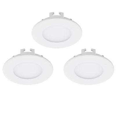 Eglo FUEVA 1 94732 Встраиваемые и накладные светильникиКруглые LED<br>Встраиваемые светильники – популярное осветительное оборудование, которое можно использовать в качестве основного источника или в дополнение к люстре. Они позволяют создать нужную атмосферу атмосферу и привнести в интерьер уют и комфорт.   Интернет-магазин «Светодом» предлагает стильный встраиваемый светильник Eglo 94732. Данная модель достаточно универсальна, поэтому подойдет практически под любой интерьер. Перед покупкой не забудьте ознакомиться с техническими параметрами, чтобы узнать тип цоколя, площадь освещения и другие важные характеристики.   Приобрести встраиваемый светильник Eglo 94732 в нашем онлайн-магазине Вы можете либо с помощью «Корзины», либо по контактным номерам. Мы развозим заказы по Москве, Екатеринбургу и остальным российским городам.<br><br>Цветовая t, К: 3000 (теплый белый)<br>Тип лампы: LED<br>Тип цоколя: LED<br>Цвет арматуры: белый<br>Диаметр, мм мм: 85<br>Размеры основания, мм: 0<br>Диаметр врезного отверстия, мм: 25<br>Общая мощность, Вт: 3X2,7W