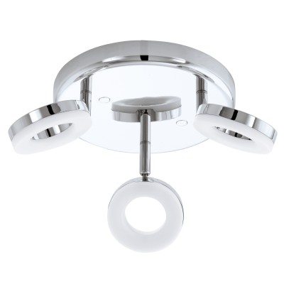 Eglo GONARO 94762 СпотыТройные<br>Светильники-споты – это оригинальные изделия с современным дизайном. Они позволяют не ограничивать свою фантазию при выборе освещения для интерьера. Такие модели обеспечивают достаточно качественный свет. Благодаря компактным размерам Вы можете использовать несколько спотов для одного помещения.  Интернет-магазин «Светодом» предлагает необычный светильник-спот Eglo 94762 по привлекательной цене. Эта модель станет отличным дополнением к люстре, выполненной в том же стиле. Перед оформлением заказа изучите характеристики изделия.  Купить светильник-спот Eglo 94762 в нашем онлайн-магазине Вы можете либо с помощью формы на сайте, либо по указанным выше телефонам. Обратите внимание, что у нас склады не только в Москве и Екатеринбурге, но и других городах России.<br><br>S освещ. до, м2: 5<br>Цветовая t, К: 3000 (теплый белый)<br>Тип цоколя: LED<br>Цвет арматуры: серебристый хром<br>Диаметр, мм мм: 210<br>Размеры основания, мм: 0<br>Оттенок (цвет): белый<br>Общая мощность, Вт: 3X3,8W