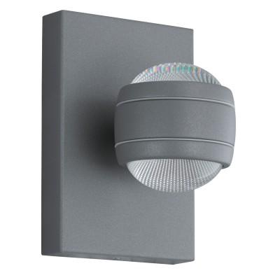 Eglo SESIMBA 94796 светильник уличныйНастенные<br><br><br>Тип товара: светильник уличный<br>Цветовая t, К: 3000 (теплый белый)<br>Тип лампы: LED<br>Тип цоколя: LED-MODUL<br>MAX мощность ламп, Вт: 2X3,7<br>Длина, мм: 130<br>Расстояние от стены, мм: 140<br>Высота, мм: 195<br>Оттенок (цвет): прозрачный<br>Цвет арматуры: серебристый<br>Общая мощность, Вт: 1