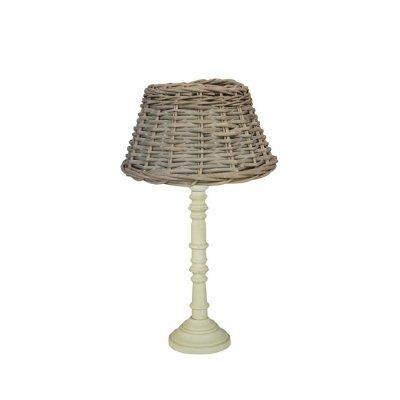 Настольная лампа Brilliant 94827/28 CiroДеревянные и ротанг<br><br><br>S освещ. до, м2: 2<br>Тип товара: Настольная лампа<br>Тип лампы: накаливания / энергосбережения / LED-светодиодная<br>Тип цоколя: E27<br>Количество ламп: 1<br>MAX мощность ламп, Вт: 40<br>Диаметр, мм мм: 250<br>Высота, мм: 440<br>Цвет арматуры: бежевый