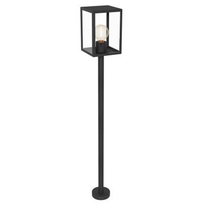 Eglo ALAMONTE 1 94833 светильник уличныйОдиночные столбы<br>Обеспечение качественного уличного освещения – важная задача для владельцев коттеджей. Компания «Светодом» предлагает современные светильники, которые порадуют Вас отличным исполнением. В нашем каталоге представлена продукция известных производителей, пользующихся популярностью благодаря высокому качеству выпускаемых товаров.   Уличный светильник Eglo 94833 не просто обеспечит качественное освещение, но и станет украшением Вашего участка. Модель выполнена из современных материалов и имеет влагозащитный корпус, благодаря которому ей не страшны осадки.   Купить уличный светильник Eglo 94833, представленный в нашем каталоге, можно с помощью онлайн-формы для заказа. Чтобы задать имеющиеся вопросы, звоните нам по указанным телефонам.<br><br>Тип лампы: Накаливания / энергосбережения / светодиодная<br>Тип цоколя: E27<br>Ширина, мм: 150<br>MAX мощность ламп, Вт: 60<br>Размеры основания, мм: 110<br>Длина, мм: 150<br>Высота, мм: 1015<br>Оттенок (цвет): прозрачный<br>Цвет арматуры: черный<br>Общая мощность, Вт: 2