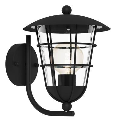 Eglo PULFERO 94834 светильник уличныйНастенные<br>Обеспечение качественного уличного освещения – важная задача для владельцев коттеджей. Компания «Светодом» предлагает современные светильники, которые порадуют Вас отличным исполнением. В нашем каталоге представлена продукция известных производителей, пользующихся популярностью благодаря высокому качеству выпускаемых товаров.   Уличный светильник Eglo 94834 не просто обеспечит качественное освещение, но и станет украшением Вашего участка. Модель выполнена из современных материалов и имеет влагозащитный корпус, благодаря которому ей не страшны осадки.   Купить уличный светильник Eglo 94834, представленный в нашем каталоге, можно с помощью онлайн-формы для заказа. Чтобы задать имеющиеся вопросы, звоните нам по указанным телефонам.<br><br>Тип лампы: Накаливания / энергосбережения / светодиодная<br>Тип цоколя: E27<br>MAX мощность ламп, Вт: 60<br>Длина, мм: 220<br>Расстояние от стены, мм: 280<br>Высота, мм: 280<br>Оттенок (цвет): прозрачный<br>Цвет арматуры: черный<br>Общая мощность, Вт: 2