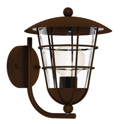 Eglo PULFERO 1 94854 светильник уличныйНастенные<br>Обеспечение качественного уличного освещения – важная задача для владельцев коттеджей. Компания «Светодом» предлагает современные светильники, которые порадуют Вас отличным исполнением. В нашем каталоге представлена продукция известных производителей, пользующихся популярностью благодаря высокому качеству выпускаемых товаров.   Уличный светильник Eglo 94854 не просто обеспечит качественное освещение, но и станет украшением Вашего участка. Модель выполнена из современных материалов и имеет влагозащитный корпус, благодаря которому ей не страшны осадки.   Купить уличный светильник Eglo 94854, представленный в нашем каталоге, можно с помощью онлайн-формы для заказа. Чтобы задать имеющиеся вопросы, звоните нам по указанным телефонам.<br><br>Тип лампы: Накаливания / энергосбережения / светодиодная<br>Тип цоколя: E27<br>MAX мощность ламп, Вт: 60<br>Длина, мм: 220<br>Расстояние от стены, мм: 280<br>Высота, мм: 280<br>Оттенок (цвет): прозрачный<br>Цвет арматуры: коричневый<br>Общая мощность, Вт: 2